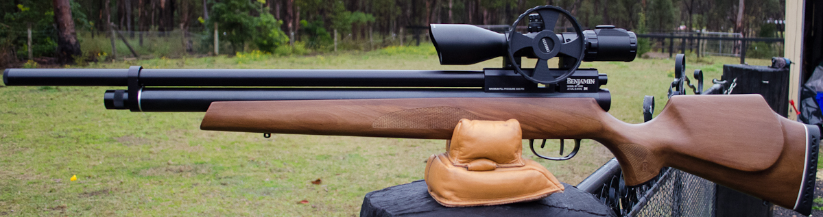 Benjamin Marauder Pre-Charged Pneumatic Air Rifle (.22) with a scope