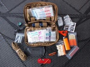 The kit bag is a backup setup, which provide you emergency items if the main pack is lost.