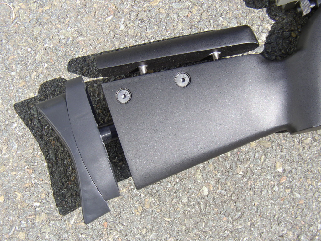 The adjustable stock of the PCP Challenger .177  Stock