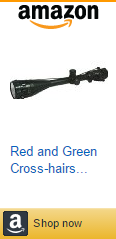 Red and Green Cross-hairs Illuminated Rifle Scope Laser Sight Target Dot Riflescope (6-24X50AOEG)