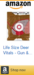 Life Size Deer Vitals - Gun & Bow Paper Hunting Shooting Targets 15x19 Inches