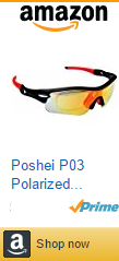 Poshei P03 Polarized Sports Sunglasses with 5 Set Interchangeable Lenses for Biking Fishing Running Driving Golf Baseball